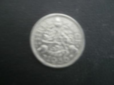 1936 george v silver threepence in good condition