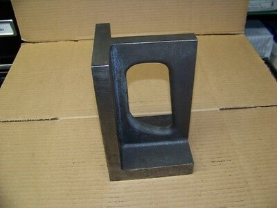 """8 X 5 X 4 1/2"""" Right Angle Plate Machinist Set Up Block 13 Lbs."""