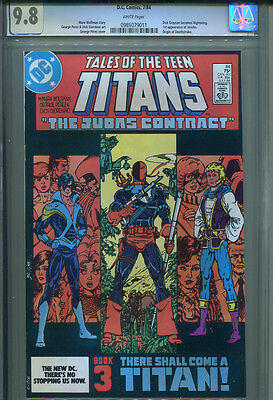 TALES OF THE TEEN TITANS  # 44  W/P   CGC 9.8  1st Nightwing/Deathstroke/Jericho