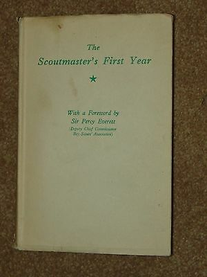 The Scoutmaster's First Year - 1937 UK dust jacket