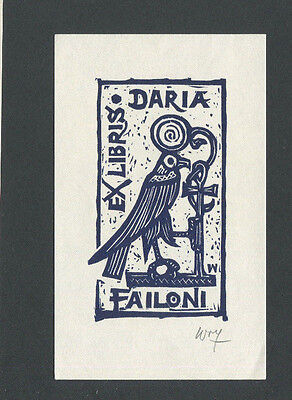 07) Nr.086 - EXLIBRIS - Remo Wolf - signiert / signed