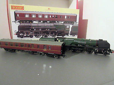 hornby r3221 br duchess of sutherland and support coach train pack dcc ready