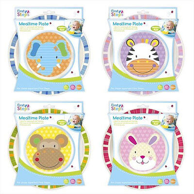 Kids Toddler Mealtime Feeding Dinner Plate Animal Theme Babies Weaning BPA Free