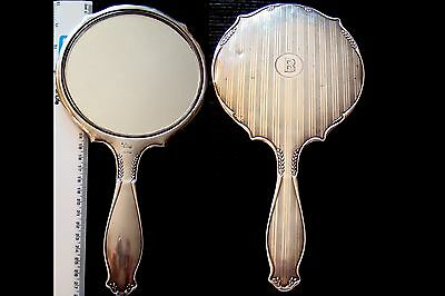 1917 Antique Solid Silver Sterling 925  Hand Mirror