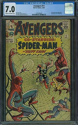 Avengers 11 CGC 7.0 - Spider-Man Appearance