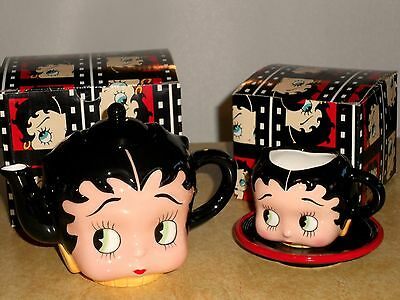 Betty Boop Vandor Teapot and Cup & Saucer New in Boxes