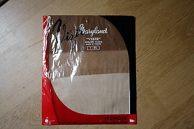 Bas nylon fully fashionned couture stockings 100% vintage chair T1