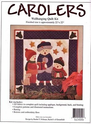 "CAROLERS WALLHANGING QUILT KIT Rachel's of Greenfield 22""sq  QUILTING Patchwork"