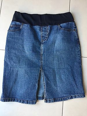 Seraphine Denim Maternity Skirt. Size 2. Approx Size 10.  Immaculate Condition.