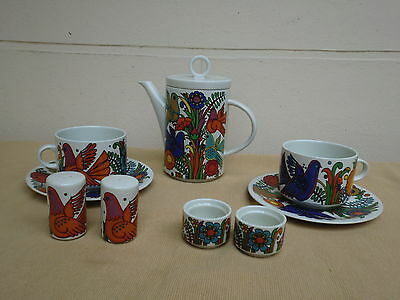 Villeroy & Boch Acapulco Coffee Pot ,cruet .egg Cups ,lge Cups Etc Breakfast Set