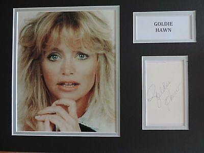 Goldie Hawn - Private Benjamin - Xmas Offer - Superb Signed Display - Coa