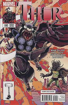 THOR #2 ROCKET RACCOON AND GROOT STOKOE VARIANT (Marvel 2014 1st Print) COMIC