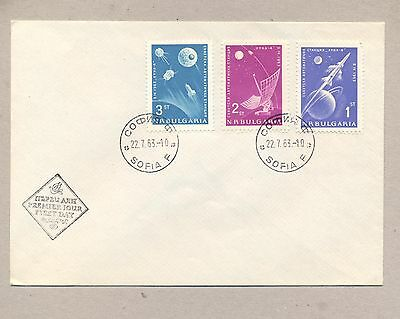 Bulgaria 1963 FDC cover.Space Luna-4.See scan.