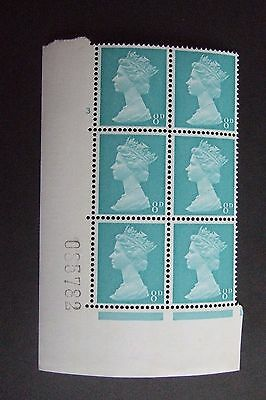 """UNMOUNTED MINT 8d CYLINDER BLOCK with LISTED """"MISSING PEARLS"""" VARIETY, ERROR"""