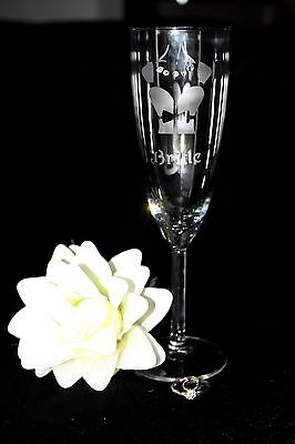 Personalised Wedding Role Champagne Flutes Glasses - birthday, anniversary gifts