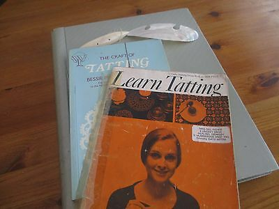 Collection Vintage Tatting Patterns, Books, Tools. Lace Making.