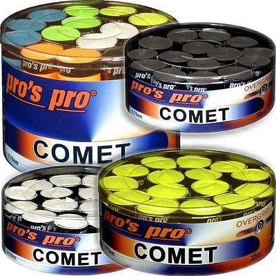 30 / 60er Boxen Pros Pro COMET Griffband 0,7 mm (Overgrips, ähnlich Ultra-Tacky)