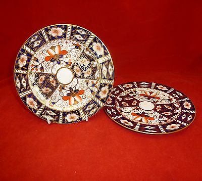 Royal Crown Derby Imari 2451 pair of 7 inch Side Plates