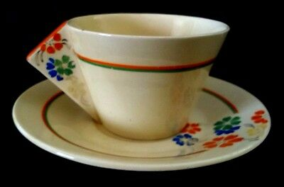 Clarice Cliff Conical Tea Duo