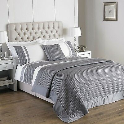 Silver Grey and White Duvet Cover Set and / or Silver Cushion Cover