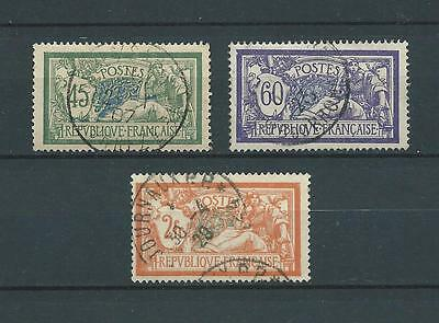 FRANCE - TYPE MERSON - 1907 YT 143 à 145 - OBL. / USED