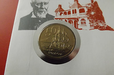 *Numisbrief New Zealand mit 50 Pence 1988 *150th.Anniversary of Auckland (ALB15)