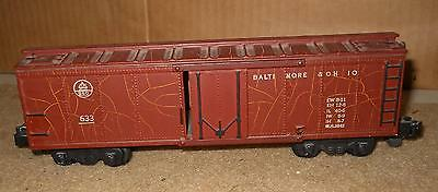 S Scale: American Flyer 633 Tuscan painted B&O Referigerator  1952 uncataloged