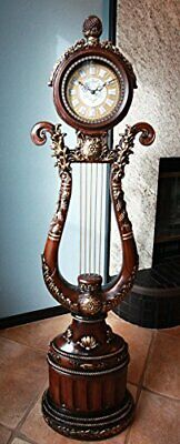 """Home Decor French Vintage Harp Style Grandfather Clock Multi Chime Settings 67""""H"""