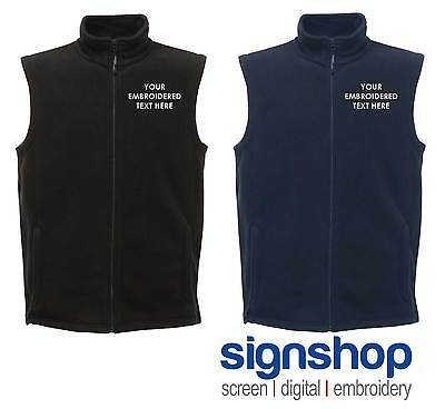 New Personalised Custom Embroidered Regatta Bodywarmer Gilet RG115