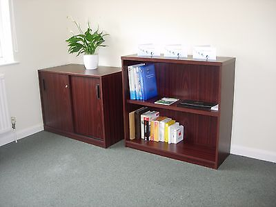 office bookshelves and cupboard