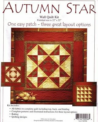AUTUMN STAR WALL QUILT KIT (3 DESIGNS) Rachel's of Greenfield QUILTING Patchwork