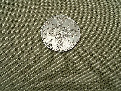 1887   Queen  Victoria    Silver  Double Florin  Coin  (  Very Good Grade )....h
