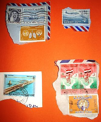 Small lot of stamps from Kuwait, UAE and Iraq