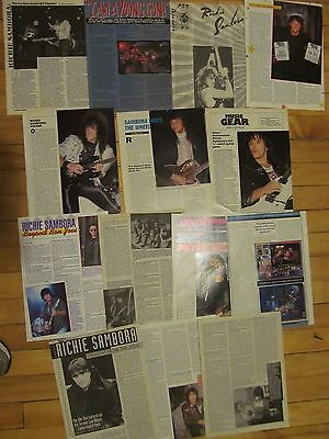 Richie Sambora, Bon Jovi, Lot of TEN Full, Two and Three Page Vintage Clippings