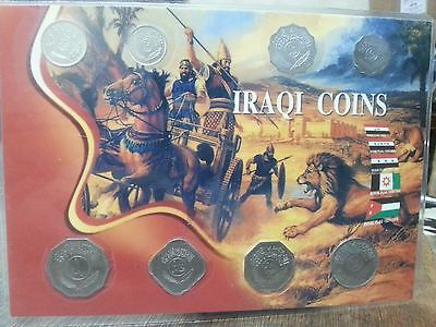Iraq full set coins 1981 - 1990 nice good condition with folder