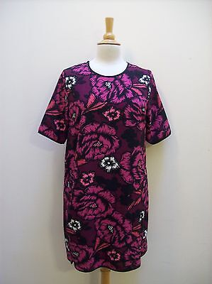Dorothy Perkins Size 14 Cerise Pink Pink Floral Print Stretch Tunic Dress