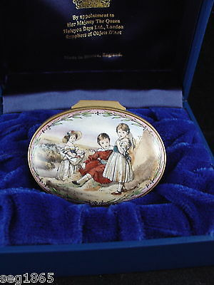 Halcyon Days Enamel Box - Ltd Edition Tribute To Hrh Princess Margaret