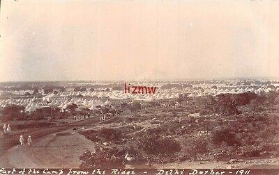 India 1911 Delhi Durbar View Of Part Of Camp From The Ridge Tents Photo Card