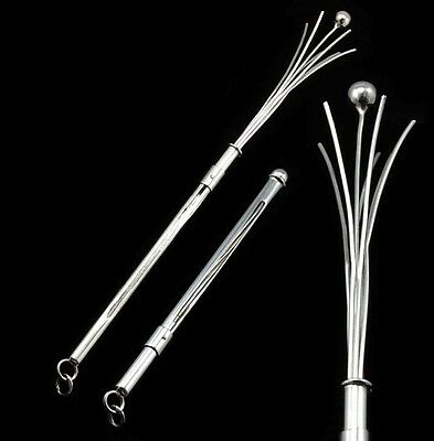 Sterling Silver Swizzle Stick Drinks Stirrer Cocktail Whisk Bubbly Mixer Stick