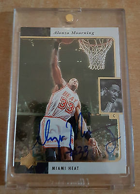 Alonzo Mourning Authentic Autograph - 1996 Upper Deck SP - #279/734