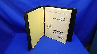 HP 8970A NOISE FIGURE METER OPERATING & SERVICE MANUAL w/BINDER & CHANGE SHEETS