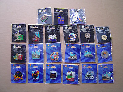 2002 Olympics Utah Lot of 21 Pin Lapel Pin 20 Different New Old Stock Sealed