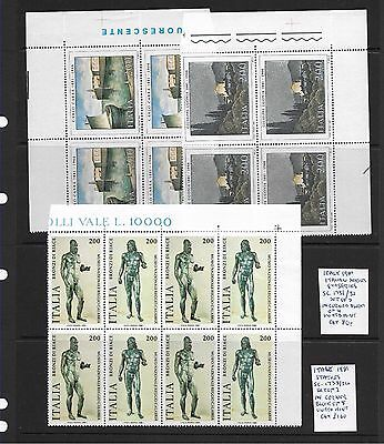 Italy 1981 Artists & Statues sets in blocks MNH