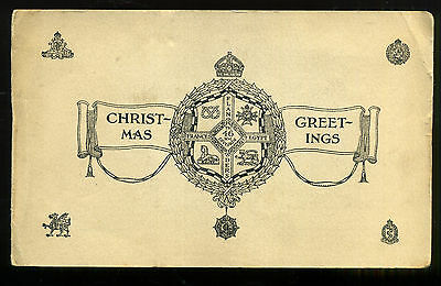 1917/18 46th NORTH MIDLAND INFANTRY DIVISION Christmas card BRITISH ARMY WWI