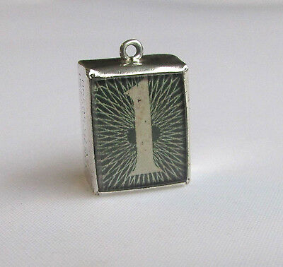 Vintage solid silver £1 note charm