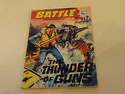BATTLE PICTURE LIBRARY NO 83,1980`S! ISSUE,GOOD FOR AGE,VERY RARE,30 yrs old.