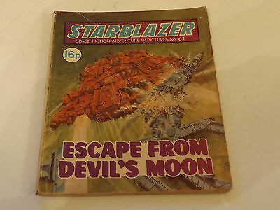 Starblazer Picture Library,no 61,1981 Issue,good For Age,very Rare Sci-Fi Comic