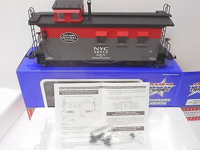 USA Trains R12011 NEW YORK CENTRAL WOODSIDED CABOOSE Lighted G scale