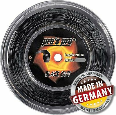 Pros Pro BLACK OUT High-Tech Saite mit pentagonalem Querschnitt, Made in Germany