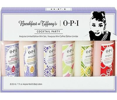 OPI Avojuice Limited Mini Set ~BREAKFAST at TIFFANY'S COCKTAIL PARTY 6x30ML ~